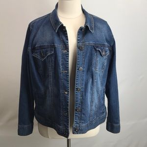 Plus size jean jacket 22W